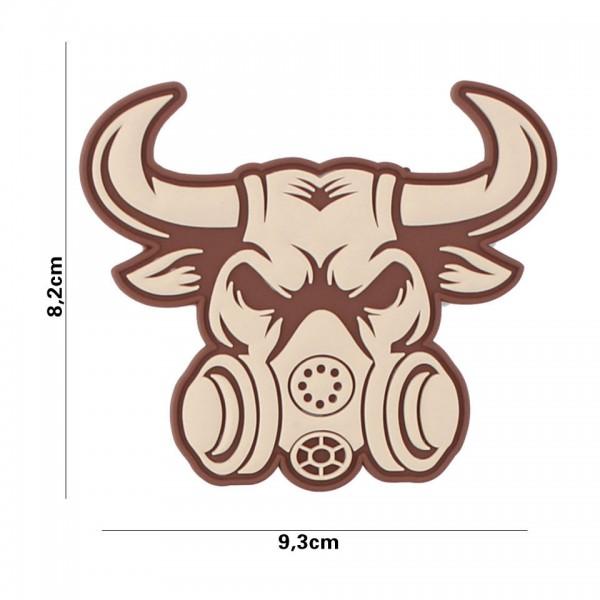3D PVC gassmask bull Patch