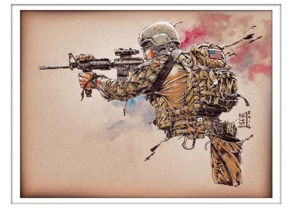 Marc Lee Military Art MARSOC Raider (gerahmt)