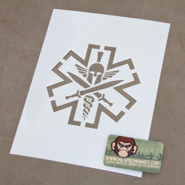 Mil Spec Monkey Tac Med Spartan Schablone