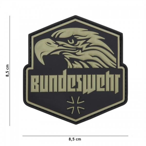 Patch 3D PVC Bundeswehr Grün