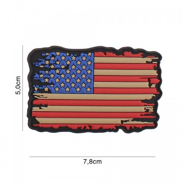PVC 3D Patch USA Vintage