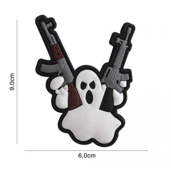 PVC 3D terror ghost Patch