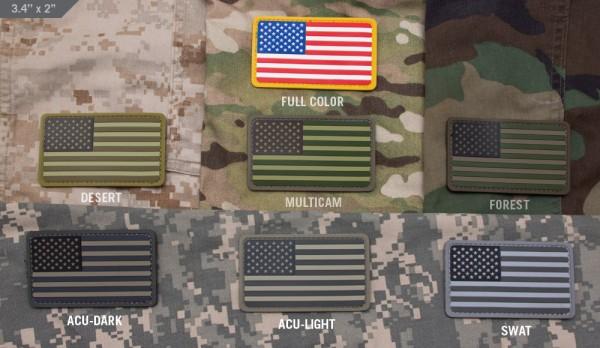 Mil Spec Monkey Patch US Flag PVC