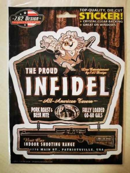 7.62 Design Sticker The Proud Infidel
