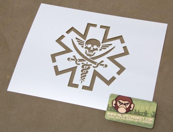 Mil Spec Monkey Tac Med Pirate Schablone