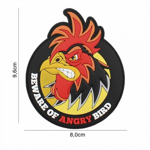 PVC 3D Patch Beware of angry bird