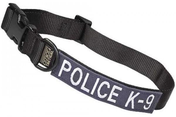 Cetacea Taktisches Hundehalsband POLICE K-9 mit Patch