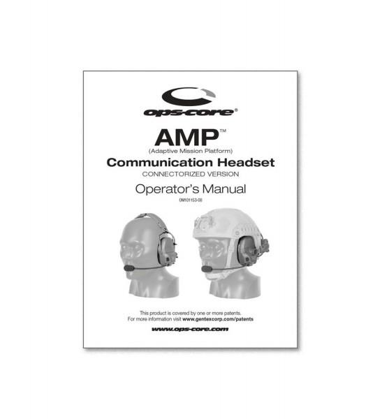 Ops Core AMP Operator's Manual