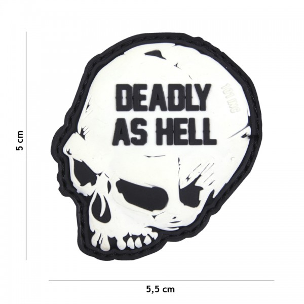 Patch 3D PVC Deadly as hell