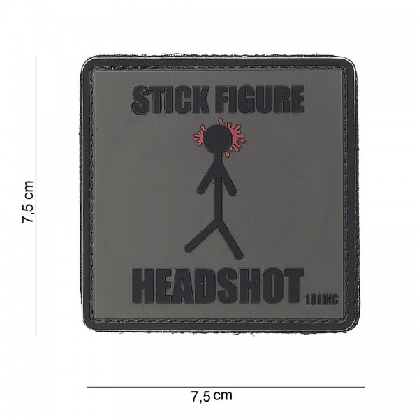 3D PVC stick figure Patch
