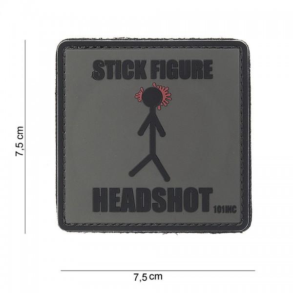 3D PVC stick figure Patch