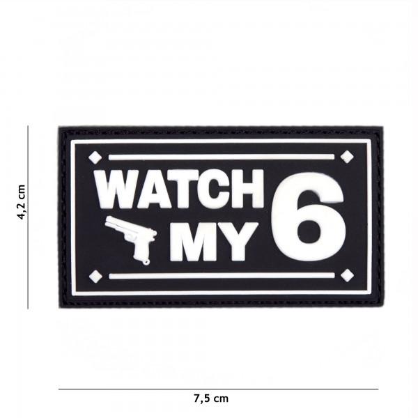 Patch 3D PVC Watch my 6