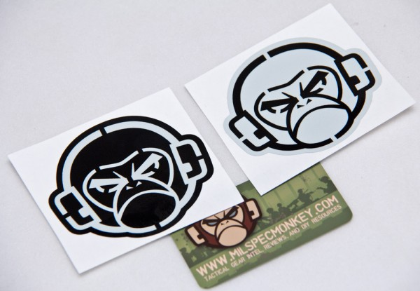 Mil Spec Monkey Logo Stencil Sticker
