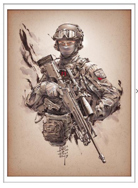 Marc Lee Military Art UK CTSFO Red 13 (gerahmt)