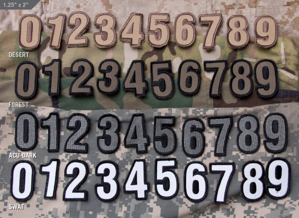 Mil Spec Monkey Patch Tac Numbers
