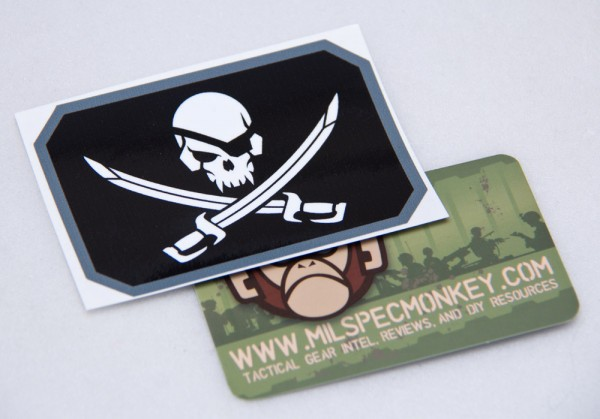 Mil Spec Monkey Pirateskull Flag Sticker