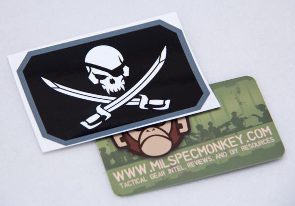 Mil Spec Monkey Pirateskull Flag Sticker