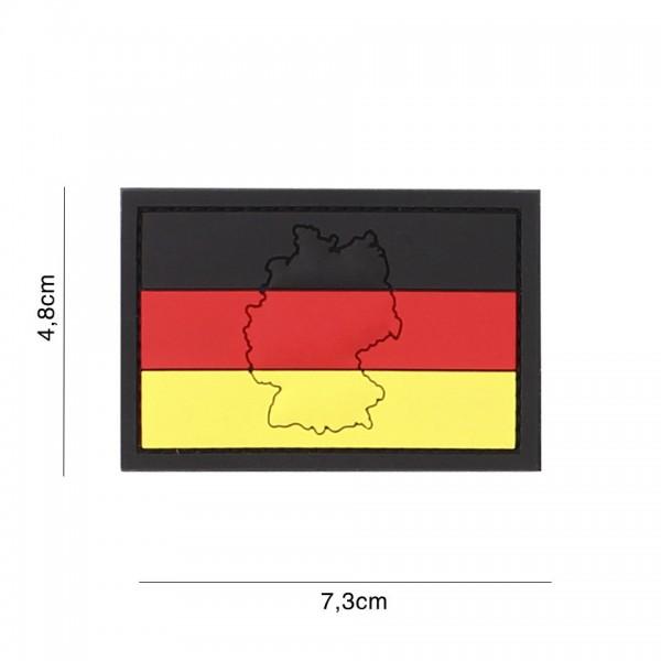 3D PVC Deutschland mit Kontur Patch