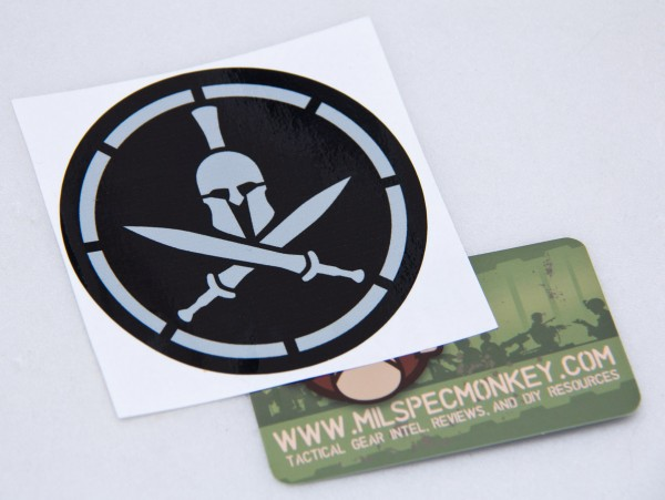 Mil Spec Monkey Spartan Helmet Sticker