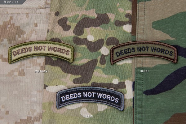 Mil Spec Monkey Patch Deeds Not Words