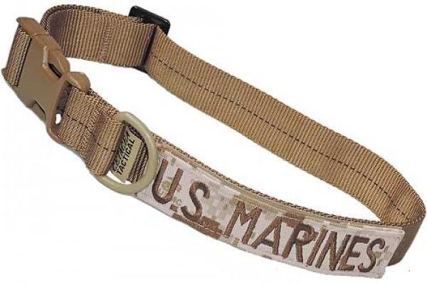 Cetacea Taktisches Hundehalsband U.S. MARINES mit Patch