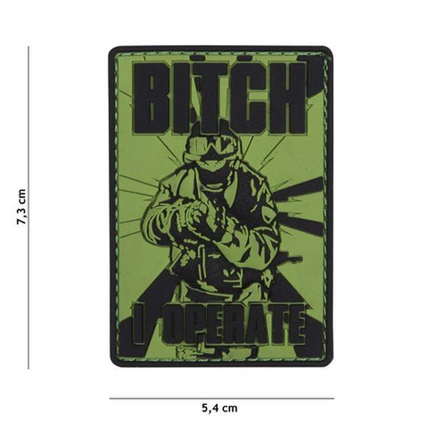 Patch 3D PVC Bitch i operate