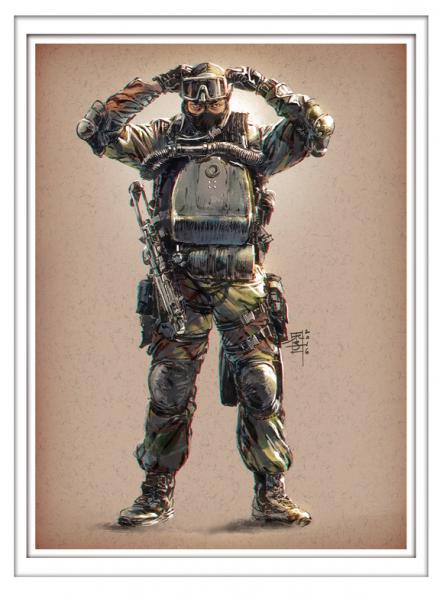 Marc Lee Military Art Malaysian PASKAL (gerahmt)