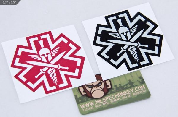 Mil Spec Monkey TacMed Spartan Sticker