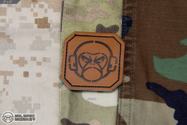 Mil Spec Monkey Monkey Head 2inch Square Leather Patch