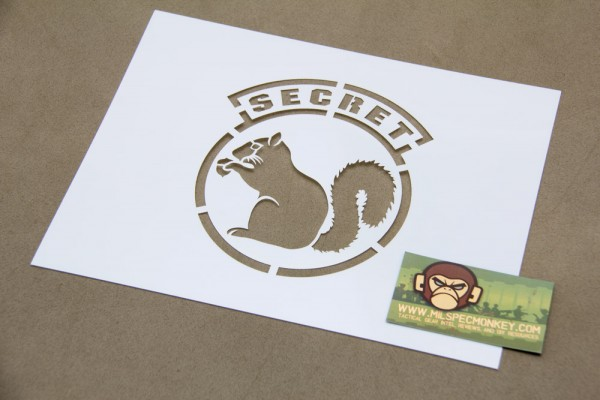 Mil Spec Monkey Secret Squirrel Schablone