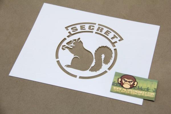 Mil Spec Monkey Secret Squirrel Schablone