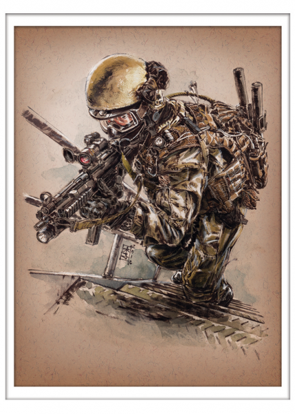 Marc Lee Military Art Singapore SOTF (gerahmt)