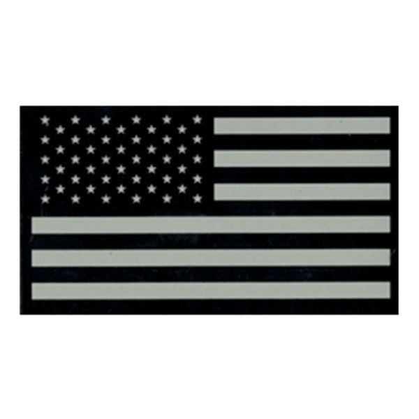 Infrared US Flag Flagge Patch Forward schwarz