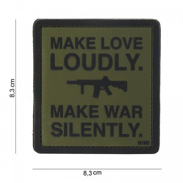3D PVC make love loudly Patch