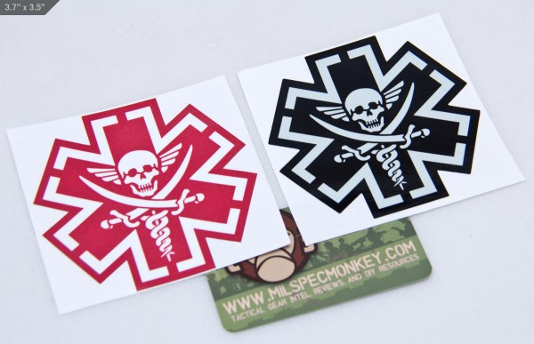 Mil Spec Monkey TacMed Pirate Sticker
