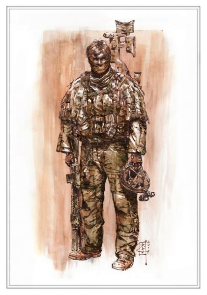 Marc Lee Military Art Aus SOTG/ 2 Commando (gerahmt)