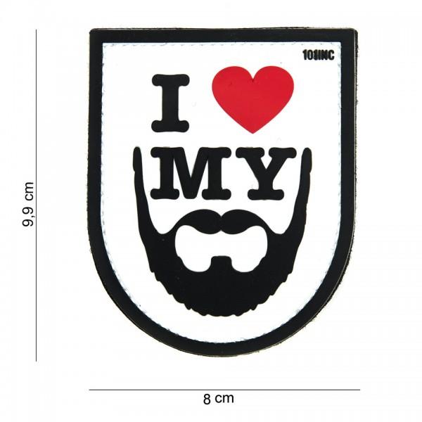 Patch 3D PVC I love my beard