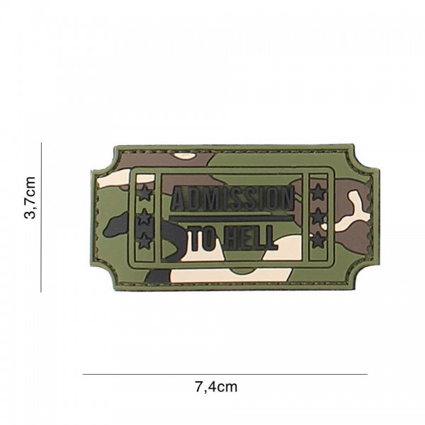 3D PVC admission to hell Patch