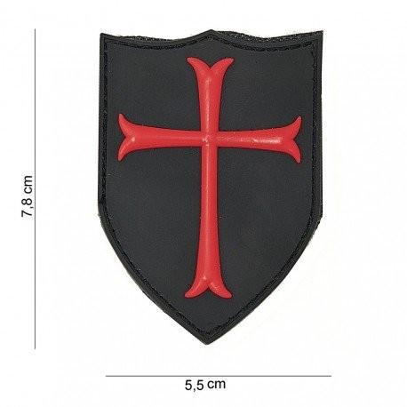 PVC 3D Crusader Shield Patch