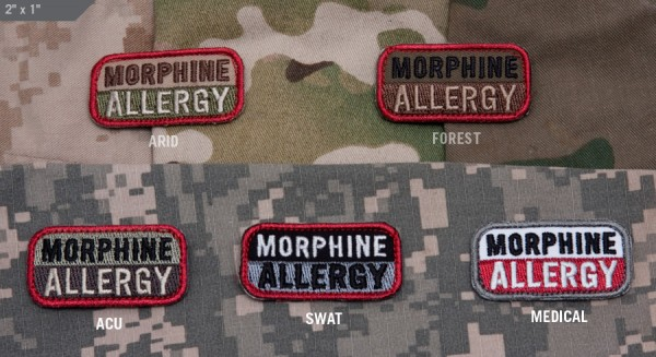 Mil Spec Monkey Patch Morphine Allergy