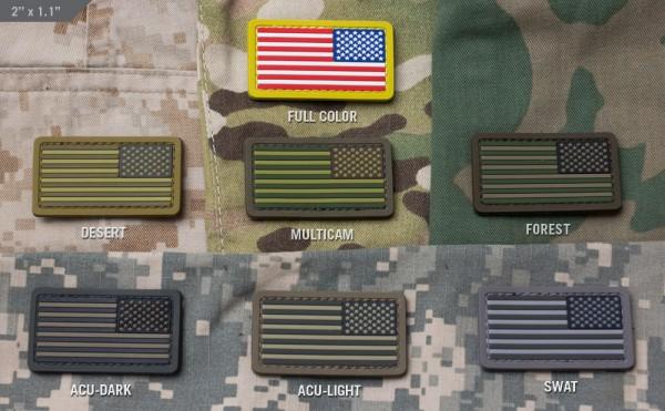 Mil Spec Monkey Patch US Flag Mini REV PVC