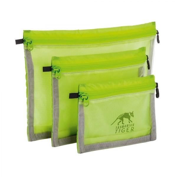 Tasmanian Tiger Mesh Pocket Set Netztaschenset (3x) safety yellow