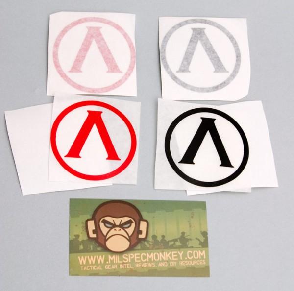 Mil Spec Monkey Lambda Shield Sticker
