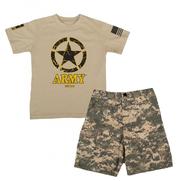 Trooper Army ACU 2pc Short Set Kids