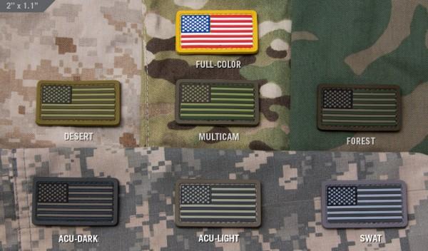 Mil Spec Monkey Patch US Flag PVC Mini