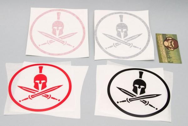 Mil Spec Monkey Spartan Helmet Sticker