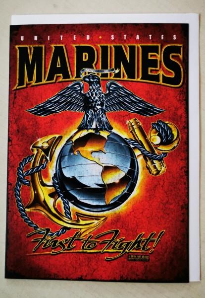 7.62 Marines Grußkarte