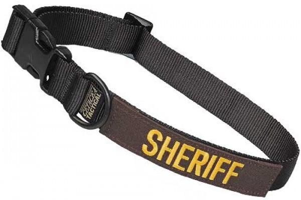 Cetacea Taktisches Hundehalsband SHERIFF mit Patch