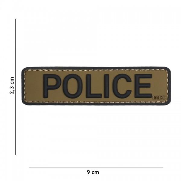 101 inc 3D PVC Police Patch