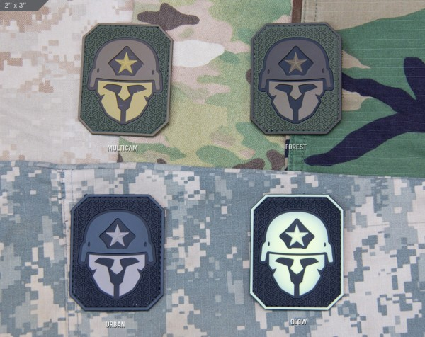 Mil Spec Monkey Patch Modern Spartan Large PVC